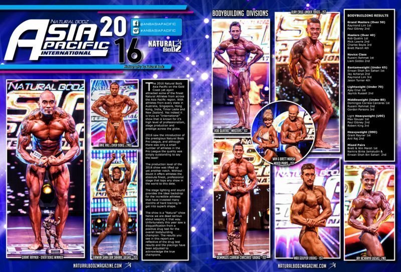 2016 Natural Bodz Asia Pacific