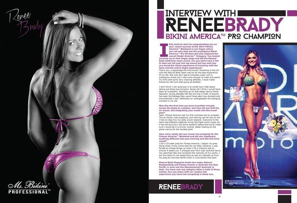 Natural Bodz Magazine Vol 7 Issue 2 Renee Brady Bikini America Pro